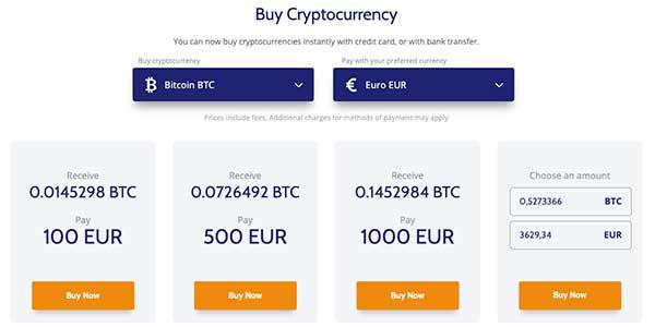 Proceso de compra de Bitcoins en Coinmama
