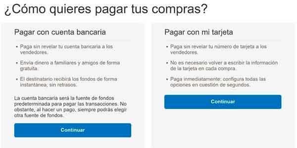 Formulario para la creación de una cuenta en Paypal