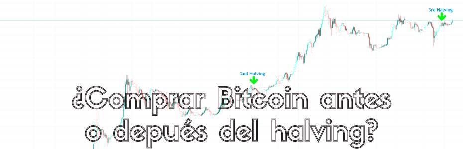 ¿Comprar Bitcoin antes o después del halving?